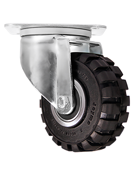 """Rodaja marca Joyma giratoria de 4"""" de Hule tipo tractor."""