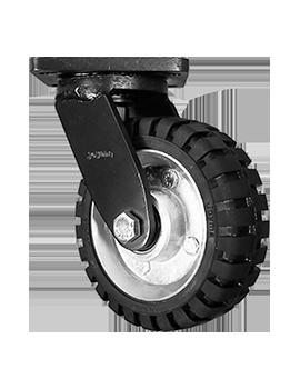 "Rodaja marca Joyma, giratoria de 6"" hule tipo tractor."